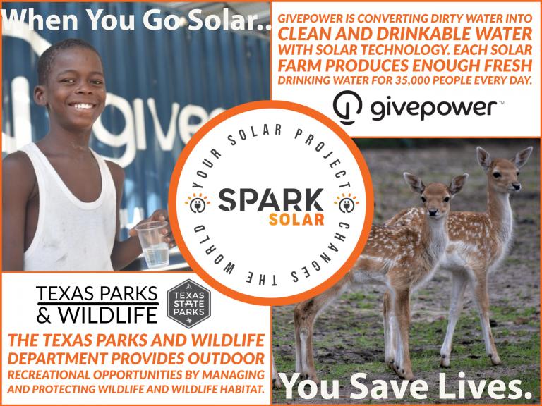 Spark Solar 2021 Charitable Donations